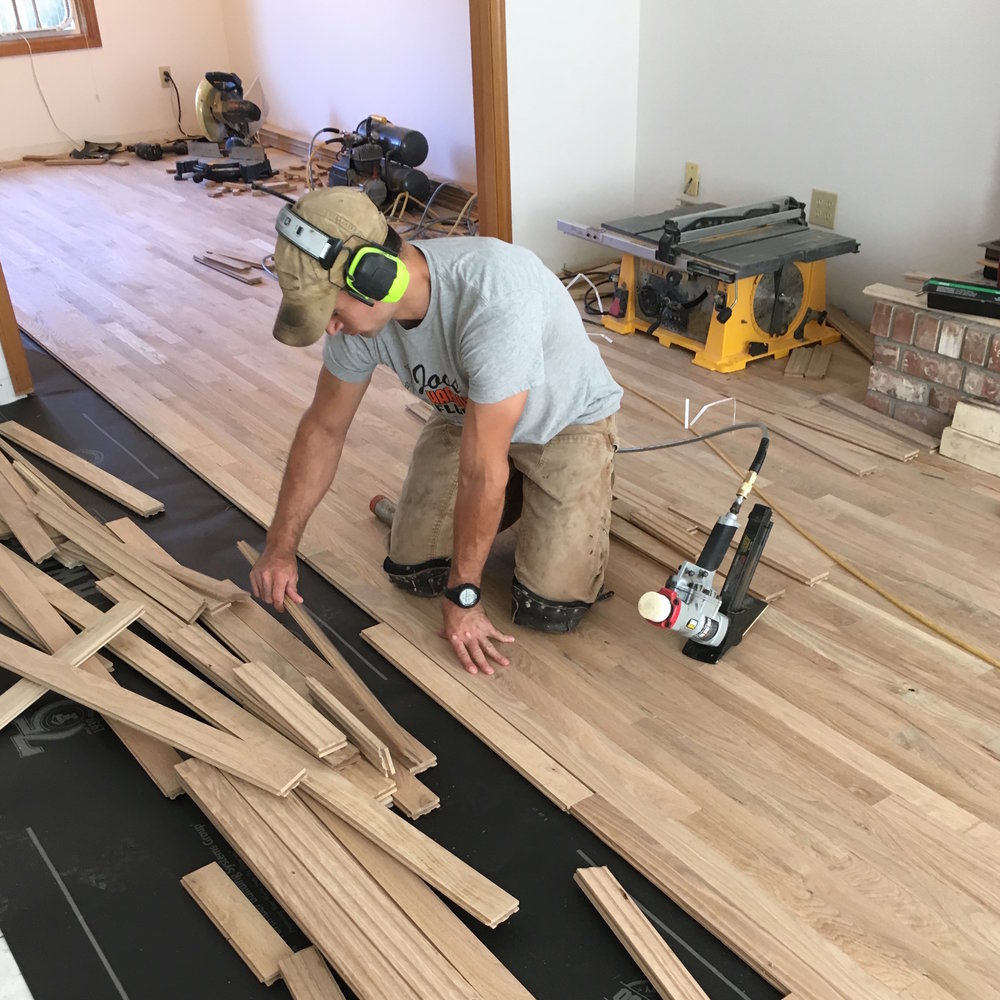 We Love What We Do - Creating beauty from raw natural hardwood is an art and we are the artists. We take pride and joy in every floor that we do.