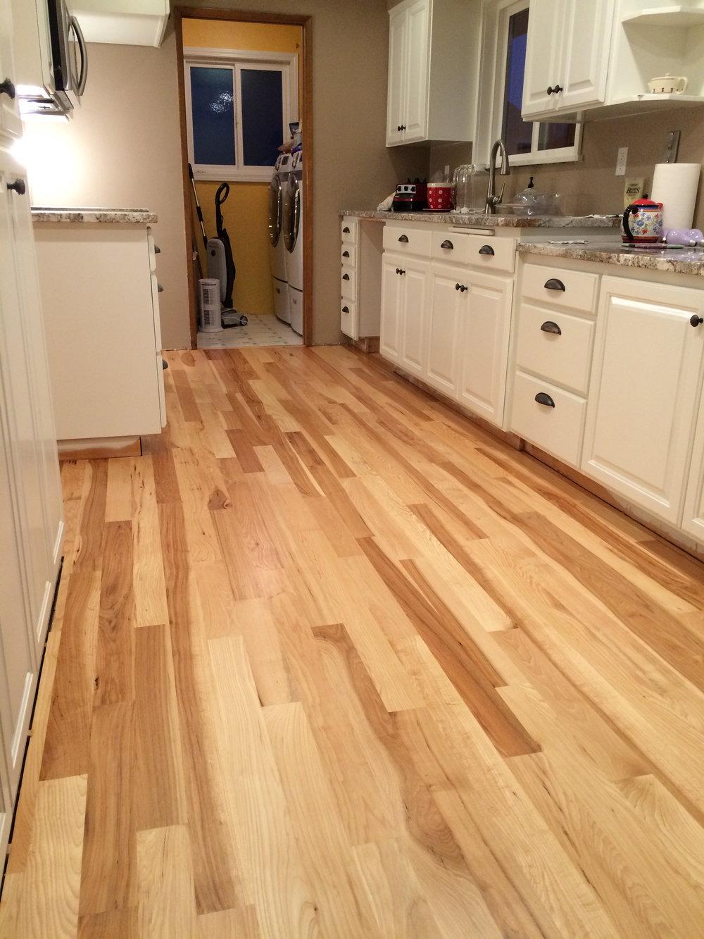 Hickory Strip Floor