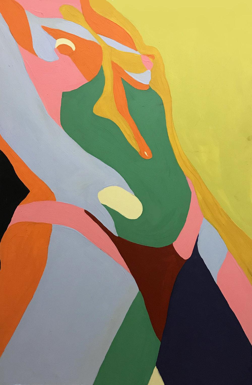 """Trust""   by: Peach MoDel- @peachmodel   36x48""    Acrylic on Board"