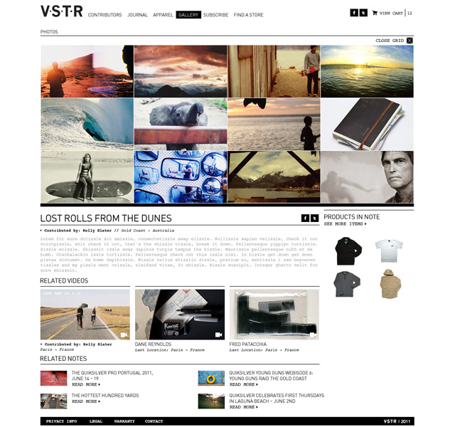V•S•T•R — PRODUCTION DESIGN [AGENCY WORK]