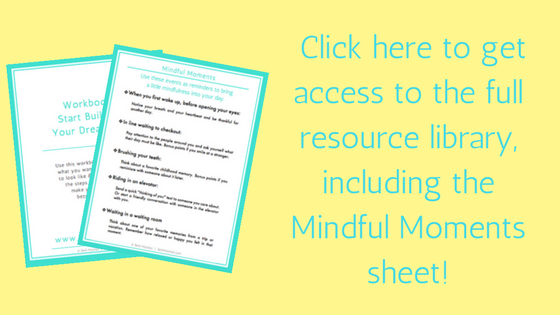 Resource Library Offer Mindful Moments