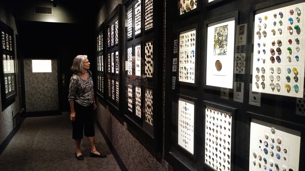 The button collection of acclaimed New York fashion designer and author Hazel Doten is on permanent display on the lower level of the McHenry Museum in Modesto.