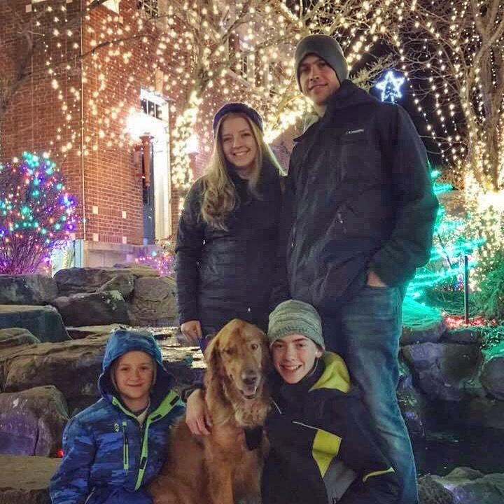 The Hart family on the Fayetteville Square