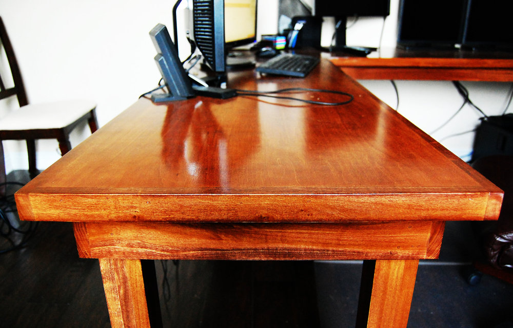 maple and birch computer desk