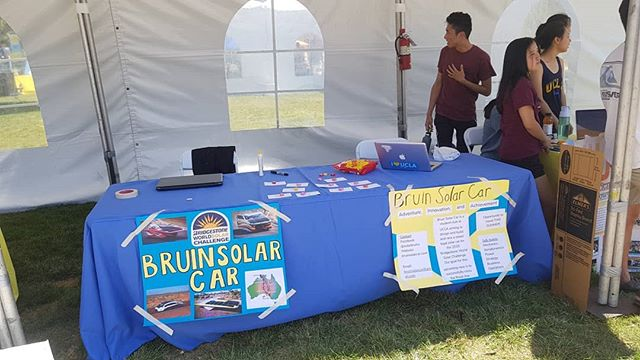 Come out to our table at #bruinday to learn more about building a solar car and racing it across Australia! #ucla #uclabruins #solarcar