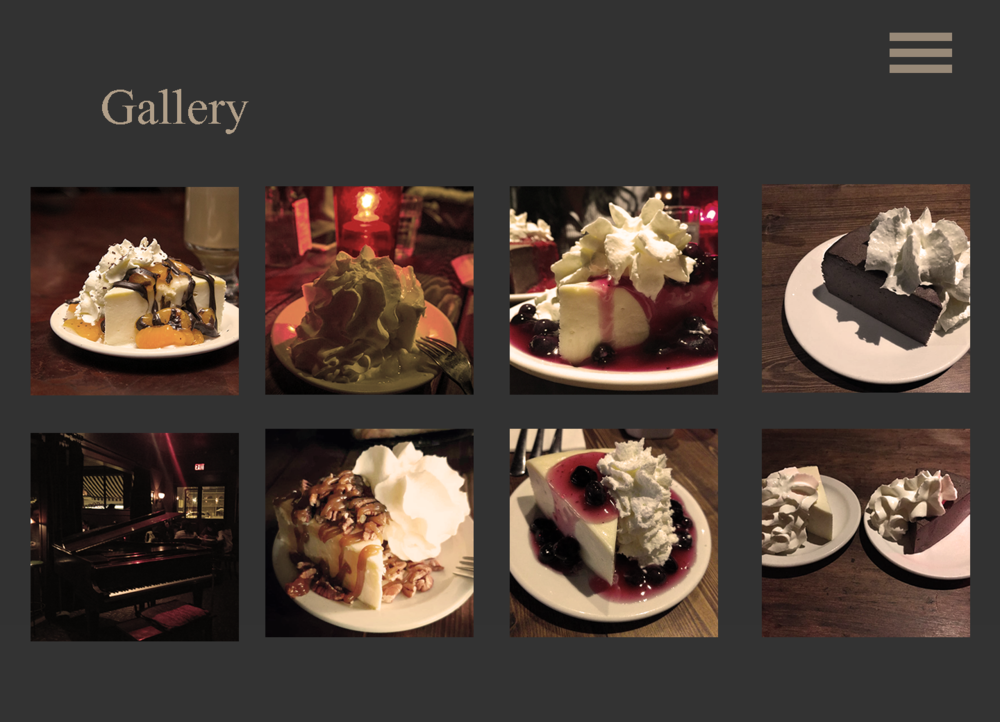 - 2. Upon interviewing foodies, Gallery was always the first and quickest response when I asked
