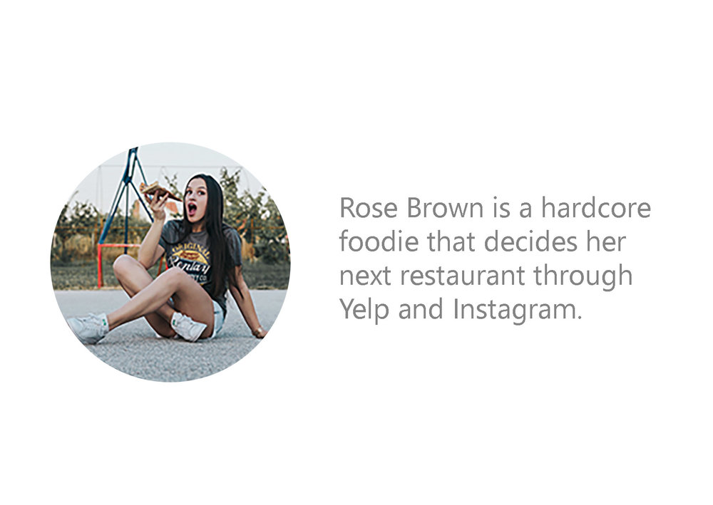 Foodies - are the persona I used because they bring business through the use of social media