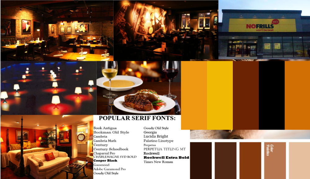 Mood board - The mood I wanted to set for this is
