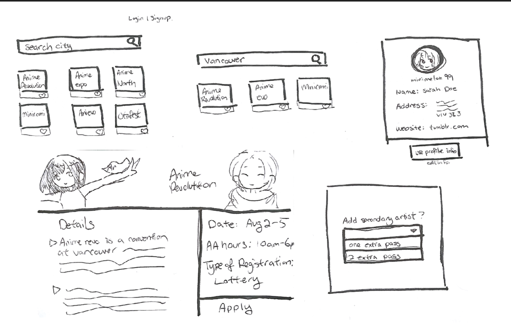 Initial Wireframe - Sketched out the first user flow on Q-Cards. Got a basic sense of flow and where should be changed.