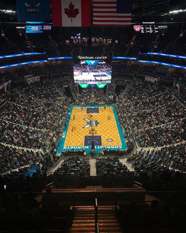 Working the last #hornets game of the season. #buzzcity #nba #production