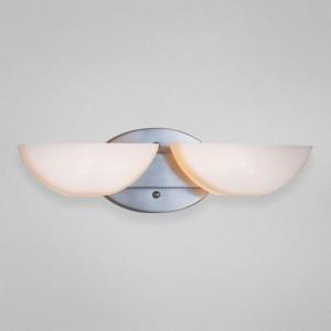 Eurofase Moonstone 2-Light Bathbar, Satin Nickel/Opal
