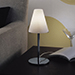 Spira C, 1lt Table Lamp, chr/wht