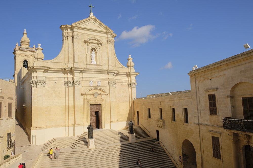 The Catholic Cathedral of the Assumption, in Gozo's Cittadella