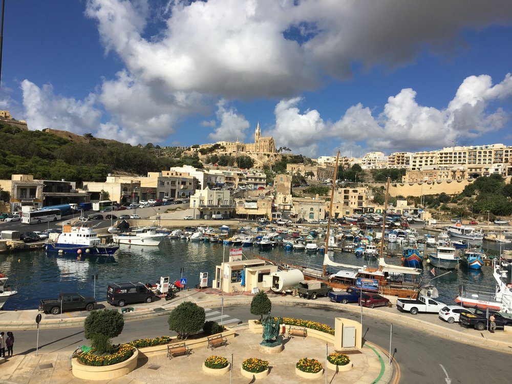 Coastal Gozo from a departing ferry
