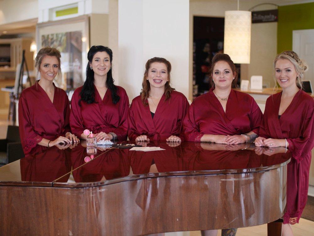 bridesmaids fall wedding pittsburgh hotel
