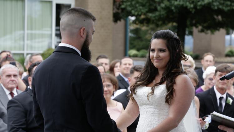 bride guest sharp videography fun look back