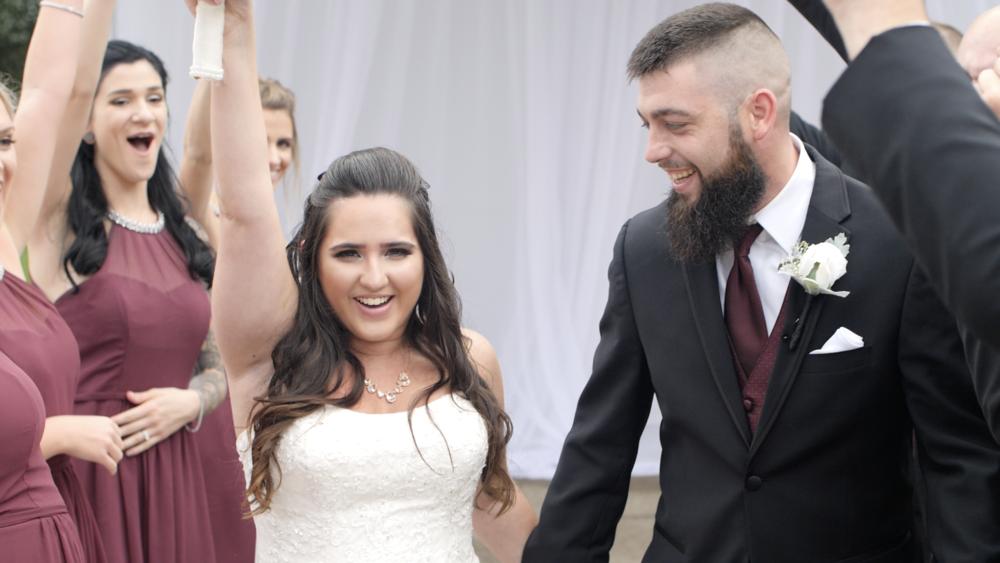 happiest day wedding fall bridesmaids bride groom reclick video