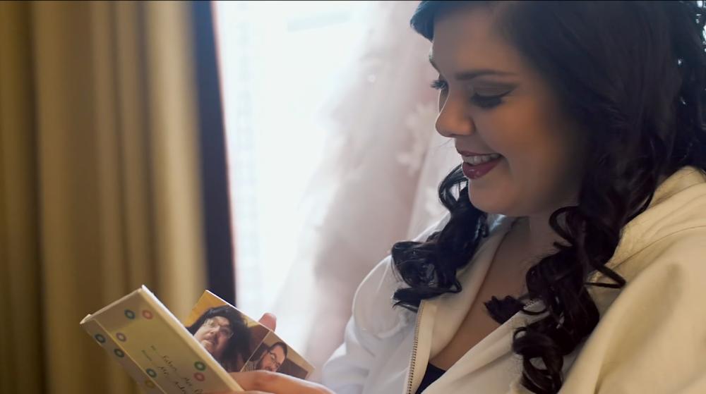 bride letter reading morning of wedding