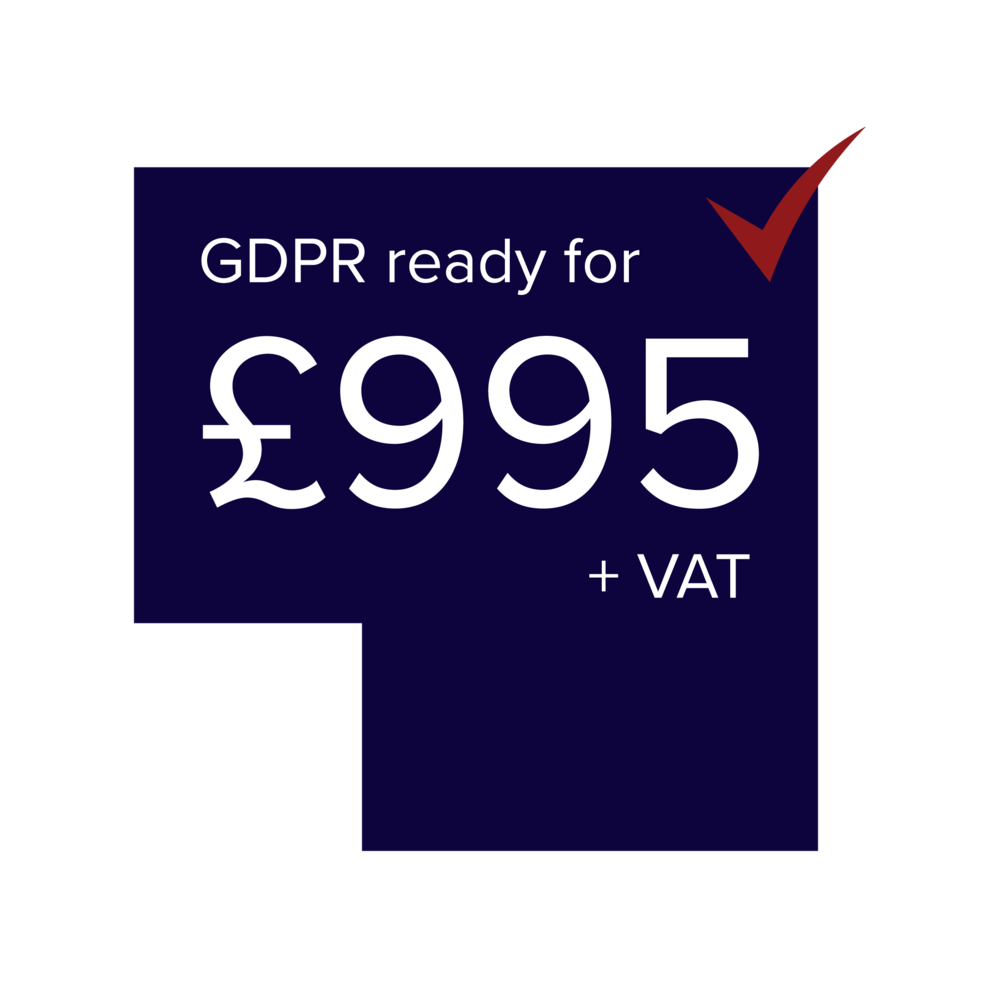 - ONE DAY SEMINARCOMPLETE GDPR TOOLKITCHECKLIST QUESTIONNAIRE AND READINESS DASHBOARDONE-OFF FEE FOR THE COMPLETE PACKAGENO HIDDEN COSTS OR EXRAS