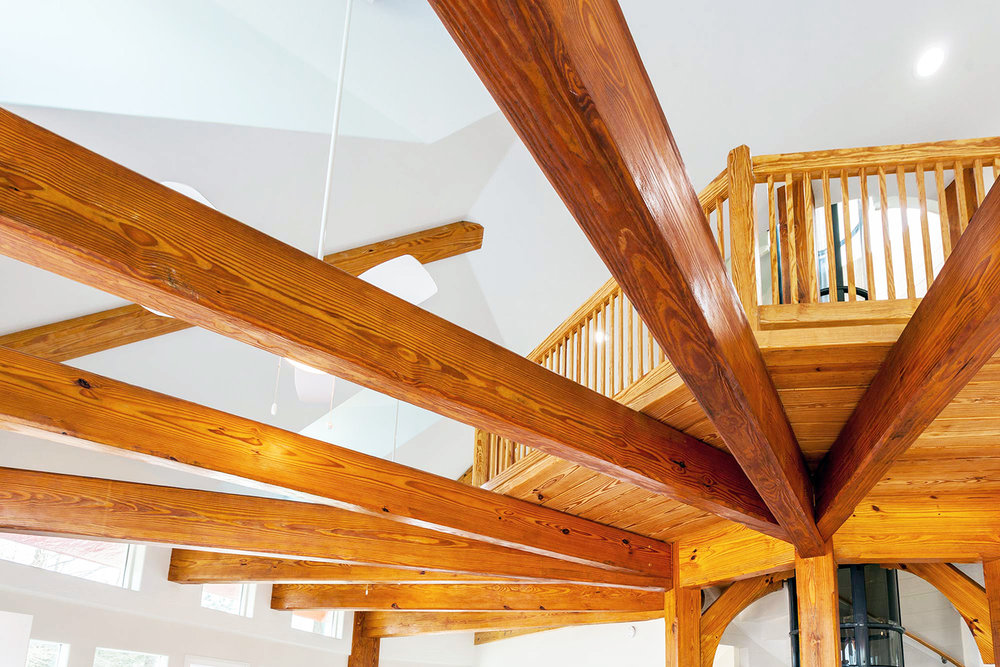 engineered timbers brace the walls against high winds in the ware neck cheslight