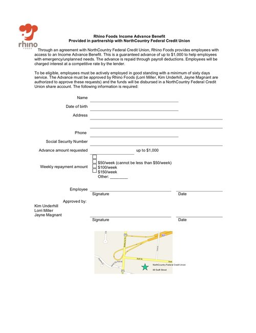 Example Employee Application Loan Request Form Income Advance Guide