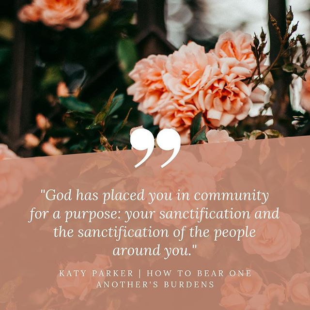 How to Bear One Another's Burdens: Katy Parker  Follow the link in the bio to read!  https://www.womenaroundse.com/new-blog/2019/3/13/-katy-parker