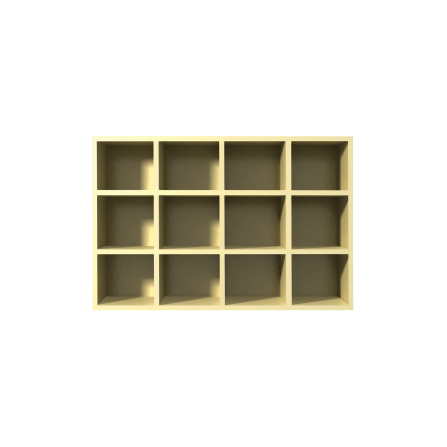 Cubby Shelf - Phenolic & Plastic