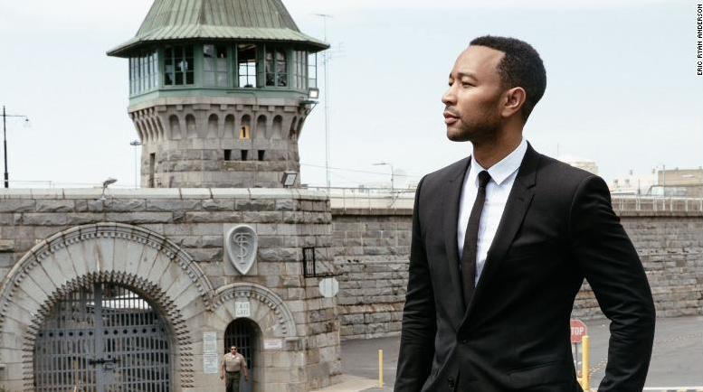 John Legend, as part of his listening and learning tour, - visited Folsom State Prison to meet with incarcerated individuals and staff and to learn about some of their re-entry programs.
