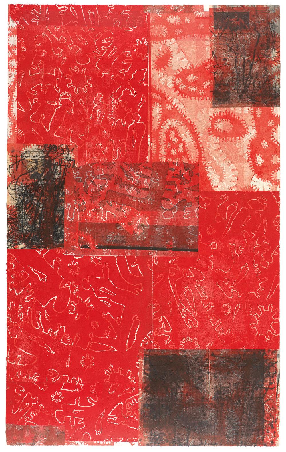 Rote Weißlinien Weltwegflämmlerenden