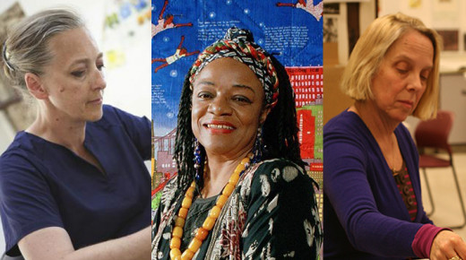 Artists Dawn Clements, Faith Ringgold, and Judy Glantzman