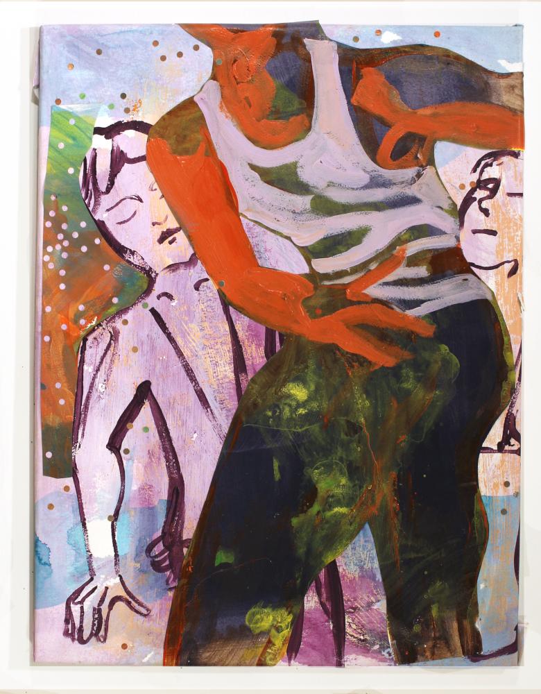 """Keisha Prioleau-Martin """"Lost Rhythms"""" 18"""" x 24"""" acrylic on stretched paper"""