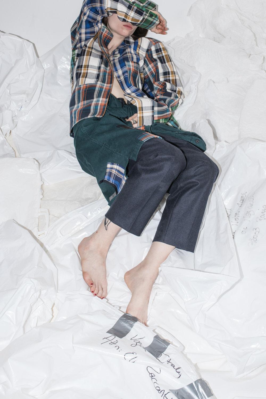 Model: Diane ● Designer: Michèle Montagne ● Art director: Eric Nehr ● Stylist: Elin Björsell