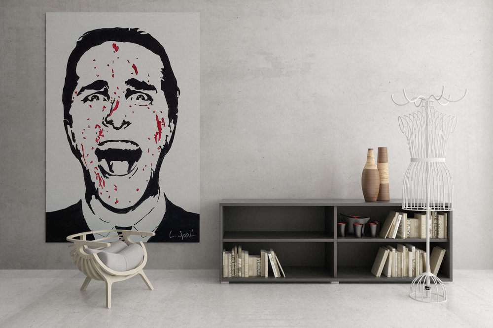 American Psycho - Acryl painting on canvasAvailable in custom sizeLimited to 10 pieces