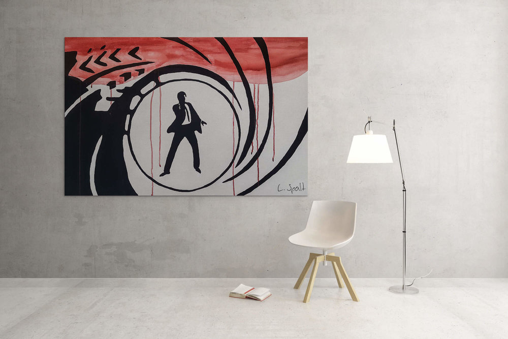 James Bond - Acryl painting on canvasAvailable in custom sizeLimited to 10 pieces