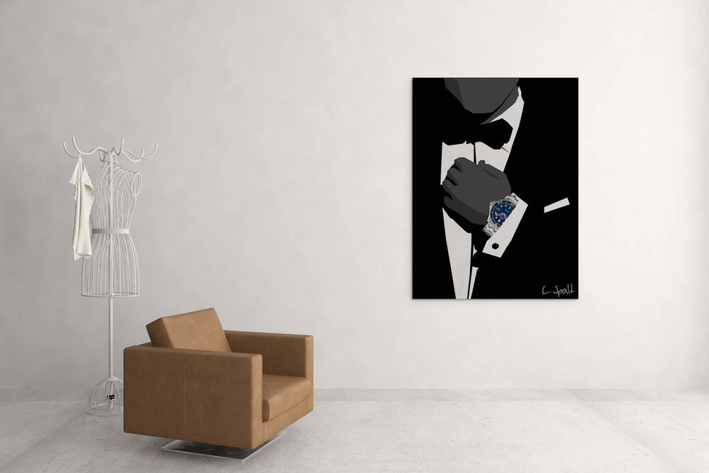 James Bond Omega -  Design print on canvasAvailable in custom sizeLimited to 10 pieces