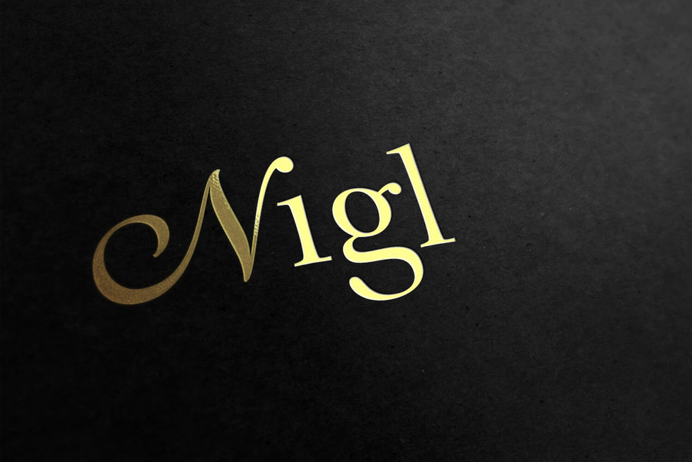Nigl Gold Logo - Changing the bottle label into a golden stamp for limited editions created a whole new appearance of exclusiveness.
