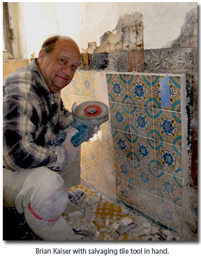 Brian Kaiser - Mr. Kaiser is one of the foremost experts on tiles from the 1920s done in the Spanish Colonial Revival style.  He is an expert on tile restoration, preservation and salvaging in California.