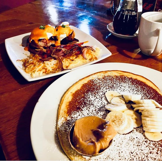 How are you feeling this morning? Need a hearty breakfast after a festive St. Patrick's Day? We by ave you covered! Pancakes, bacon wrapped meatloaf, eggs, grits, you name it! Come #getscrambled