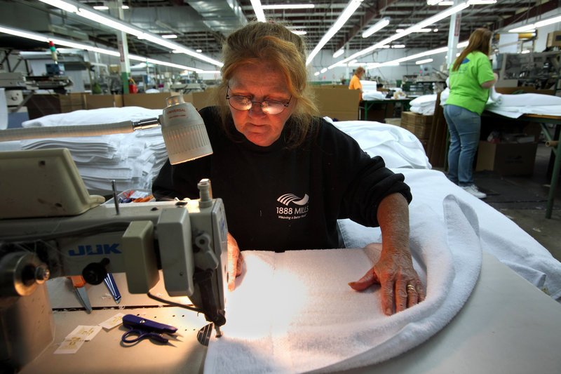 1888 Mills - americas last towel mill - Read about the towels and linens in your suite, and how they are still made in the USA