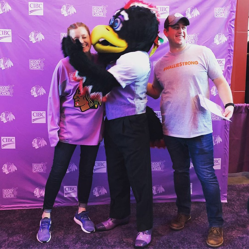 Kevin, Bethany & Tommy Hawk on the Purple Carpet