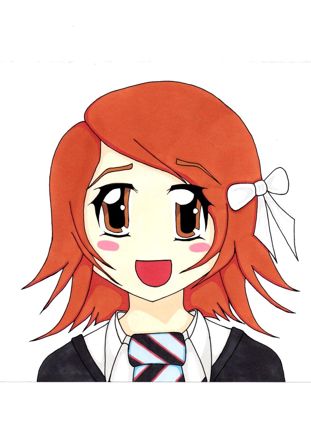 Ghibli style Self Portrait (2012)