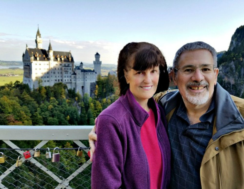 Joy near the Neuschwanstein Castle