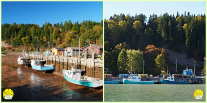 Bay of Fundy before-after Tide