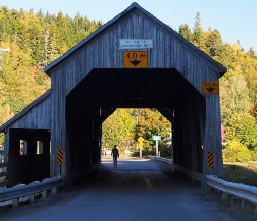 Old Covered Bridge near Bay of Fundy