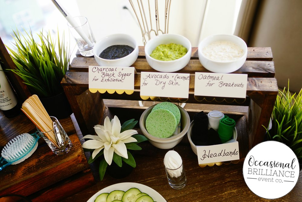 A luxurious at-home spa party with homemade, organic face masks
