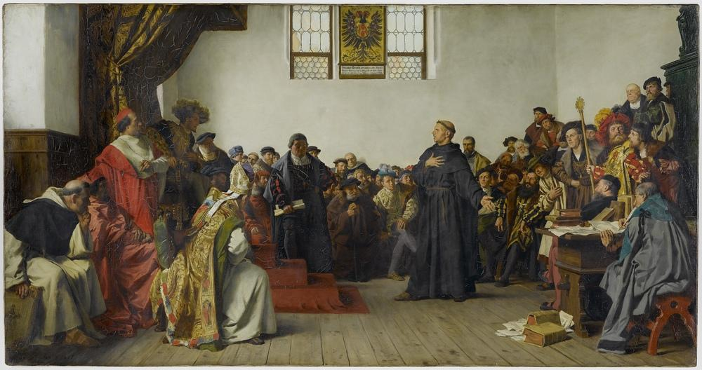 """Luther at the Diet of Worms"" by Anton von Werner"