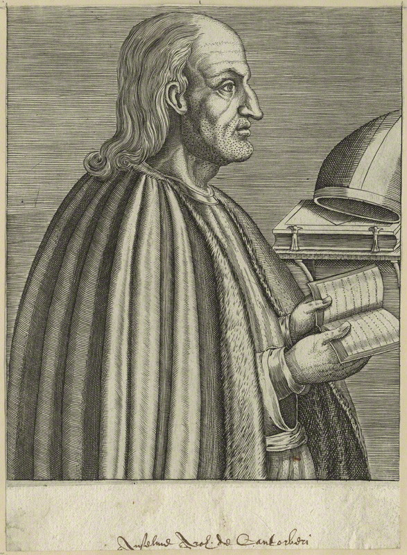A late 16th-century engraving of Anselm, archbishop of Canterbury