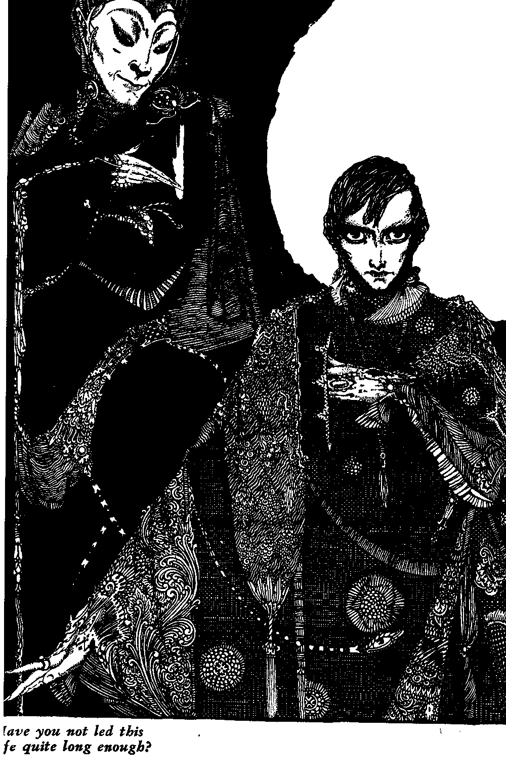 Illustration by  Harry Clarke  for Goethe's   Faust