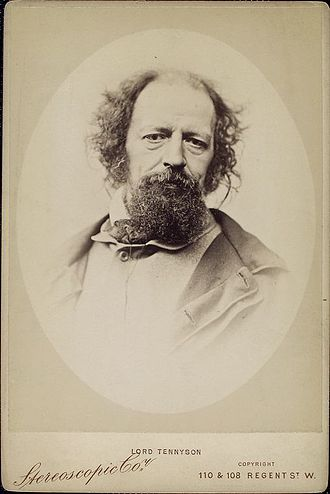 Alfred, Lord Tennyson, image from Wikipedia