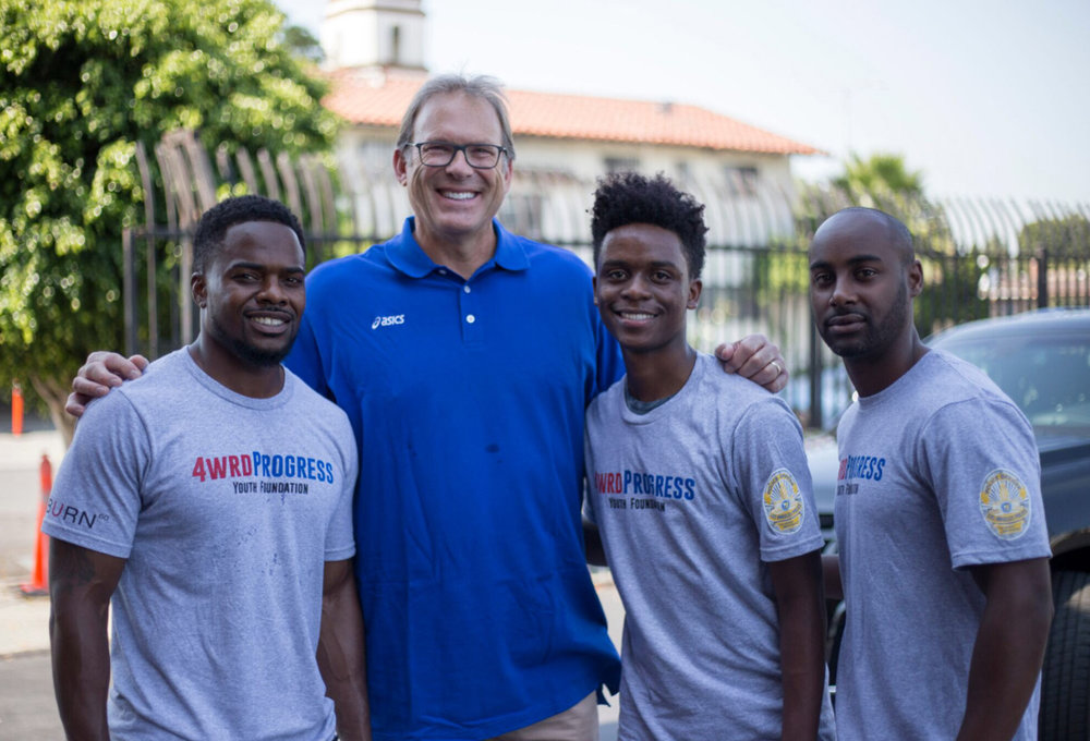 4wrd Progress leaders with Kurt Rambis, NBA coach and former player.